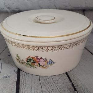 Vintage Pantry Bak-In Ware Crooksville Cream Bowl